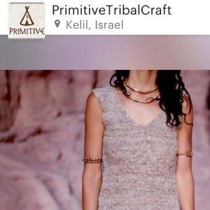 Tribal Primitive Etsy Nettle Fiber Natural TankTop